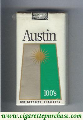 Discount Austin 100s cigarettes Menthol Lights with trapezium
