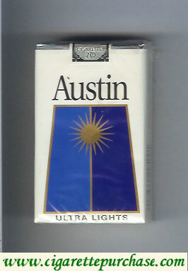Discount Austin Ultra Lights cigarettes with trapezium