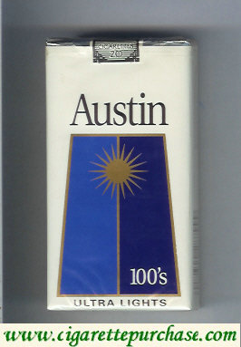 Discount Austin 100s Ultra Lights cigarettes with trapezium