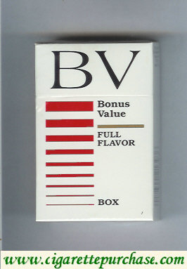 Discount BV Bonus Value Full Flavor cigarettes USA