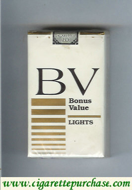 Discount BV Bonus Value Lights cigarettes USA