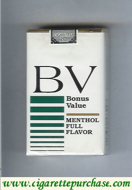 Discount BV Bonus Value Menthol cigarette Full Flavor USA