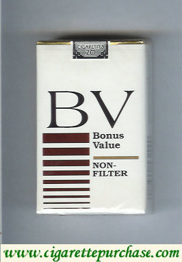 Discount BV Bonus Value Non-Filter cigarette USA