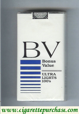 Discount BV Bonus Value Ultra Lights 100s cigarette USA