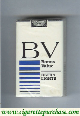 Discount BV Bonus Value Ultra Lights cigarettes USA