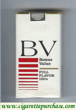 Discount BV Bonus Value Full Flavor 100s cigarettes USA
