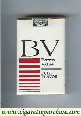 Discount BV Bonus Value cigarette Full Flavor soft box USA