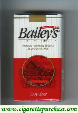 Bailey's Family 100s Filter cigarettes