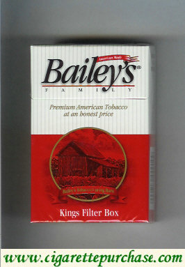Bailey's Family Filter cigarettes