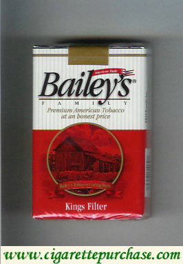 Discount Bailey's Family Filter cigarettes