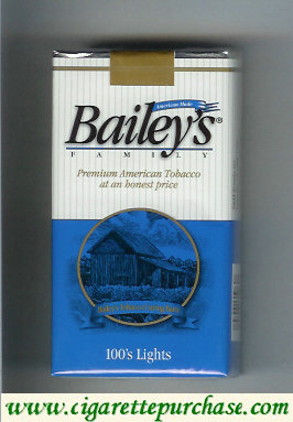 Discount Bailey's Family 100s Lights cigarettes