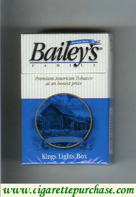Discount Bailey's Family Lights cigarettes