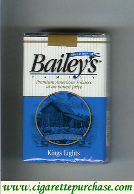 Discount Bailey's Family kings Lights cigarettes
