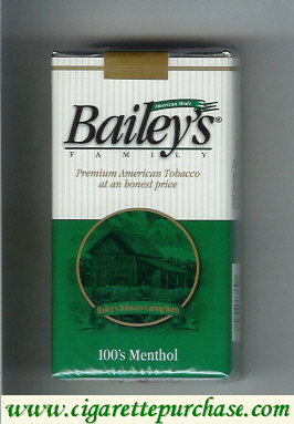 Discount Bailey's Family 100s Menthol cigarettes