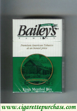 Discount Bailey's Family kings Menthol cigarettes