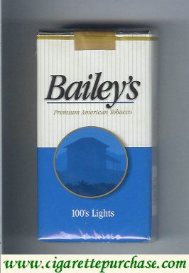 Bailey's 100s lights cigarettes