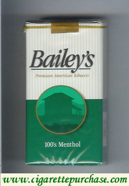 Discount Bailey's Menthol 100s cigarettes