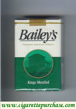 Discount Bailey's kings Menthol cigarettes