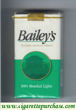 Discount Bailey's 100s Menthol Lights cigarettes