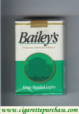 Discount Bailey's Menthol Lights cigarettes