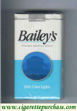 Discount Bailey's 100s Ultra Lights cigarettes