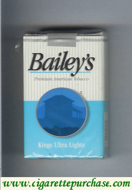 Bailey's Ultra Lights cigarettes