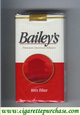 Discount Bailey's Filter 100s cigarettes