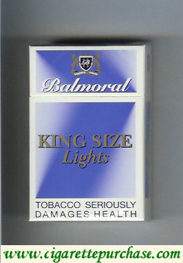 Balmoral Lights cigarettes king size blue