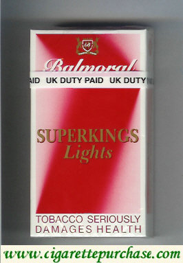 Balmoral superkings Lights cigarettes red