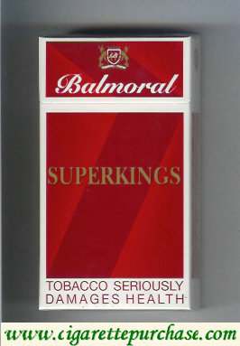 Balmoral superkings cigarettes red