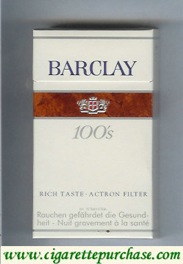Discount Barclay 100s cigarettes