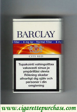 Barclay City Red cigarettes Finland