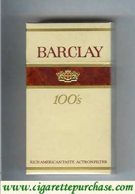 Discount Barclay Filter 100s cigarettes