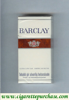 Barclay Filter cigarettes Norway