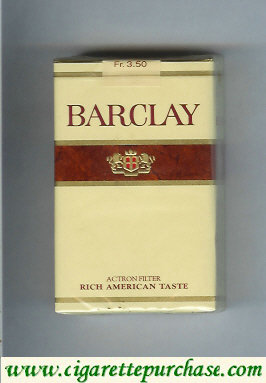 Barclay Filter cigarettes Switzerland