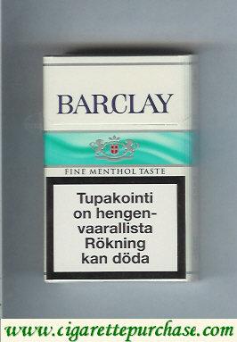 Discount Barclay Fine Menthol Taste cigarettes