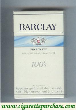 Discount Barclay 100s Fine Taste cigarettes