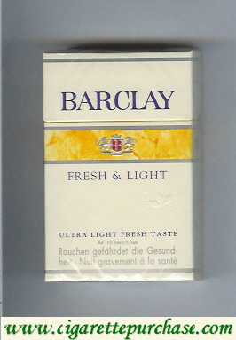 Discount Barclay Fresh Light Ultra Lights cigarettes