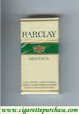 Discount Barclay Menthol 10 cigarettes