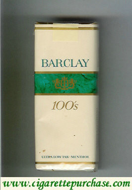 Barclay Menthol 100s cigarettes Filter