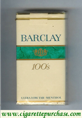 Barclay Menthol 100s cigarettes Filter USA
