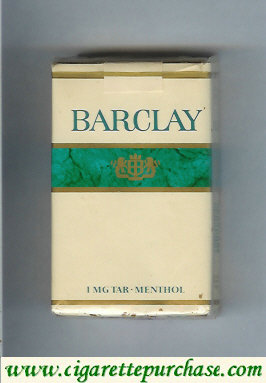 Barclay Menthol Filter cigarettes