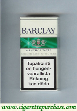 Discount Barclay Menthol Taste cigarettes