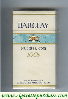 Discount Barclay Number One 100s cigarettes