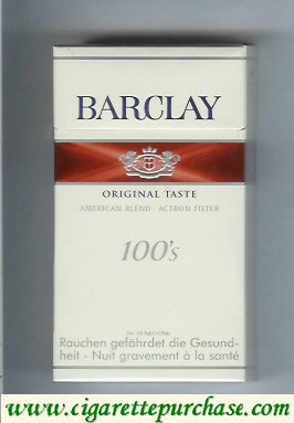 Discount Barclay Original Taste 100s cigarettes