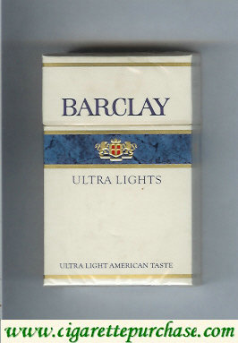 Barclay Ultra Lights cigarettes