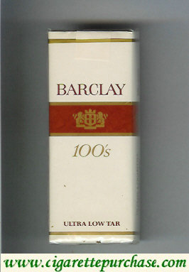 Barclay 100s cigarettes Filter brown