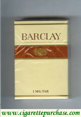 Discount Barclay brown cigarettes