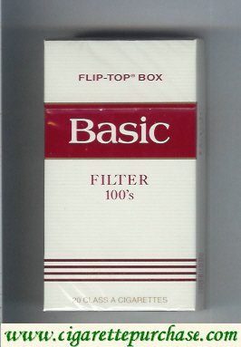 Discount Basic Filter 100s cigarettes flip-top box