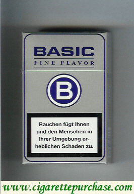Discount Basic Fine Flavo cigarettes grey hard box